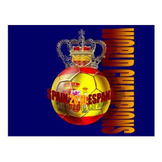 World Champions Spain 2010 futbol Postcard