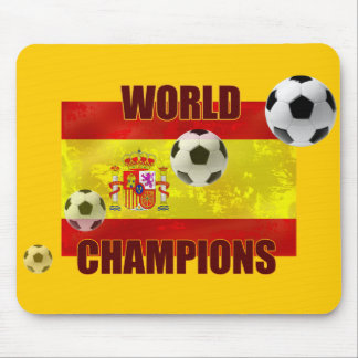 World Champions Spain flag soccer ball 2010 Mouse Pad