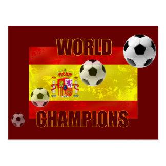 World Champions Spain flag soccer ball 2010 Postcard
