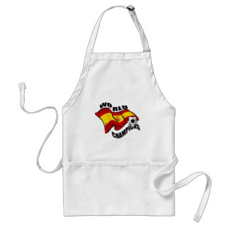 World Champions Spain Wavy flag 2010 Aprons