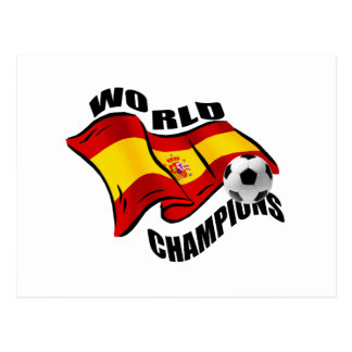 World Champions Spain Wavy flag 2010 Post Card