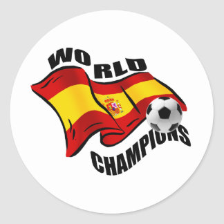 World Champions Spain Wavy flag 2010 Stickers