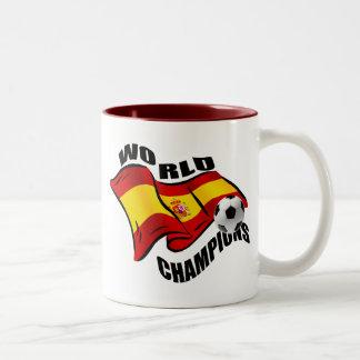 World Champions Spain Wavy flag 2010 Two-Tone Coffee Mug