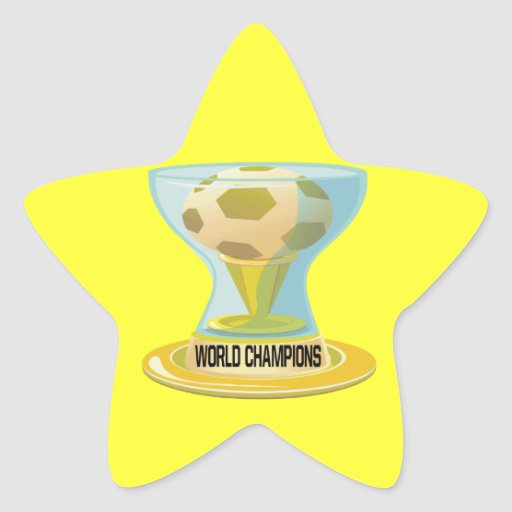 World Champions Star Sticker