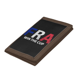 World Champs Soccer - France Win The Cup Trifold Wallet