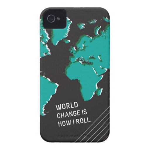 World Change Is How I Roll iPhone 4 Case