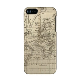 World Chart Metallic Phone Case For iPhone SE/5/5s