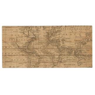 World Chart Wood Flash Drive