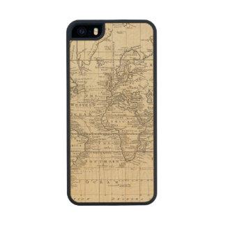 World Chart Wood iPhone SE/5/5s Case