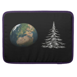 world christmas and fir tree sleeve for MacBook pro