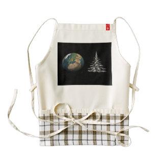 world christmas and fir tree zazzle HEART apron