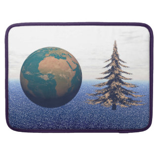 world christmas and snow sleeve for MacBook pro