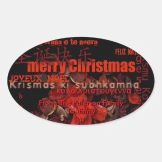 World Christmas Feliz Navidad Personalized Sticker