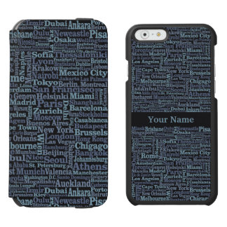 World Cities custom phone case wallets