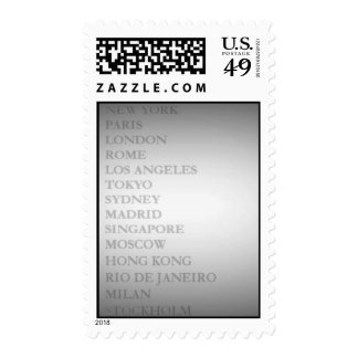 World Cities (Gray) Stamps