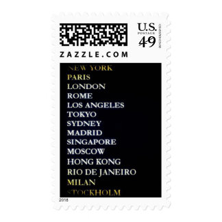 World Cities Postage Stamps