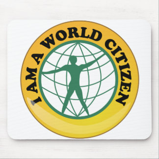 World Citizen Badge by World Service Authority Mouse Pad