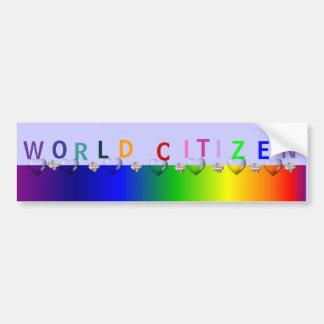 World Citizen Bumper Sticker
