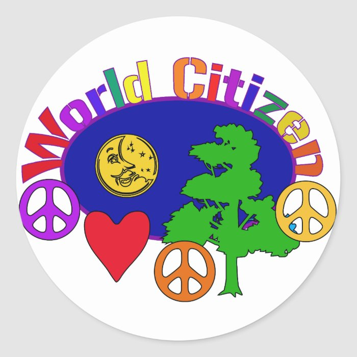 World Citizen Classic Round Sticker