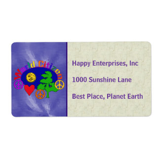World Citizen Shipping Label