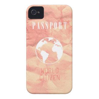 World Citizen Passport pink iPhone Case