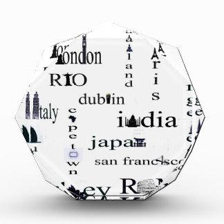 world city acrylic award