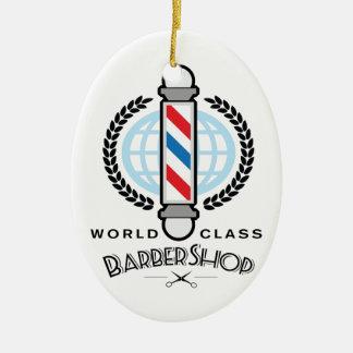 World Class Barber Shop Ceramic Ornament