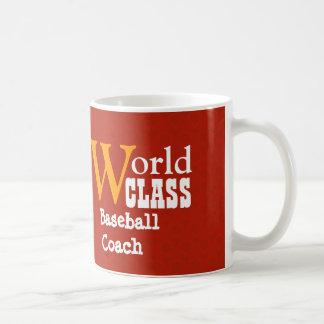 World Class Baseball Coach or Any Sport RED V04A3 Coffee Mugs