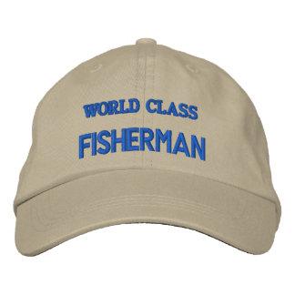WORLD CLASS FISHERMAN EMBROIDERED BASEBALL CAPS