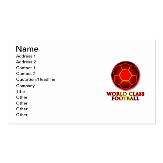 World Class Football Double-Sided Standard Business Cards (Pack Of 100)