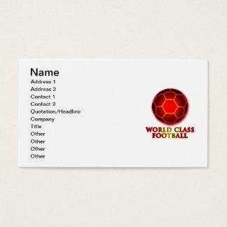 World Class Football Business Card