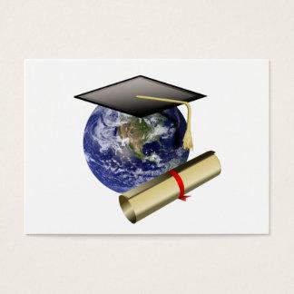 World Class Graduation - Cap and Golden Diploma Business Card