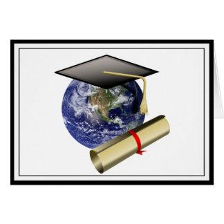 World Class Graduation - Cap and Golden Diploma Greeting Card