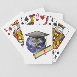 World Class Graduation - Cap and Golden Diploma Poker Cards