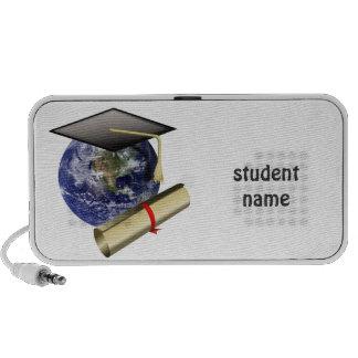 World Class Graduation - Cap and Golden Diploma Mini Speakers