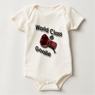 World Class Hockey Goalie Glove black Baby Bodysuit