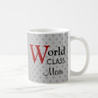 World Class Mom Love You Silver Dots Red W1654 Coffee Mug