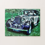 "World Class Roll Royce Jigsaw Puzzle<br><div class=""desc"">A fun and distinctive puzzle of the world class Roll Royce. The black and silver classic car is in high definition and set against a rich green lawn. Makes a great gift,  too.</div>"