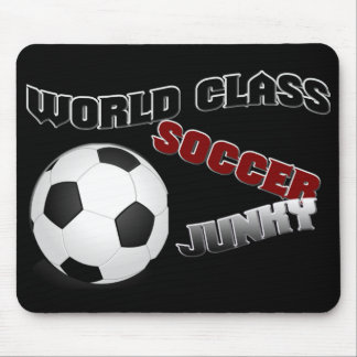 WORLD  CLASS SOCCER JUNKY Mouse Pad