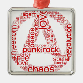 World cloud in anarchy shape metal ornament