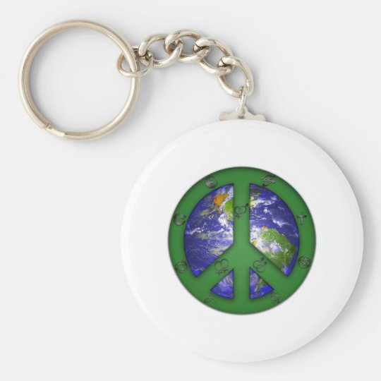 World Coexist Keychain