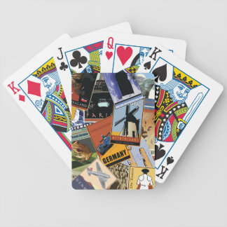 World Collage Bicycle Playing Cards