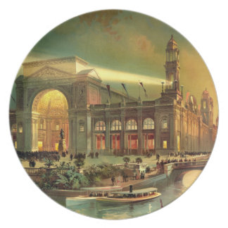 World Columbian Exposition 1892 Party Plates