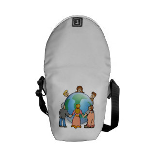 World Coming Together Messenger Bags