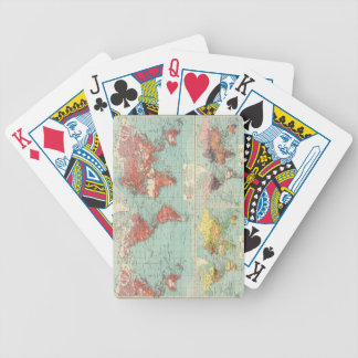 World - commerce. bicycle playing cards