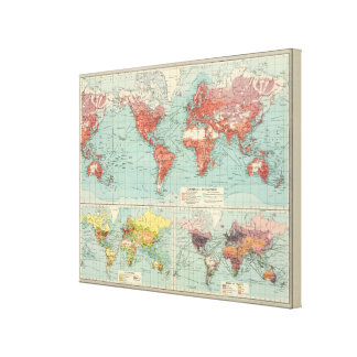World commerce Map Gallery Wrapped Canvas