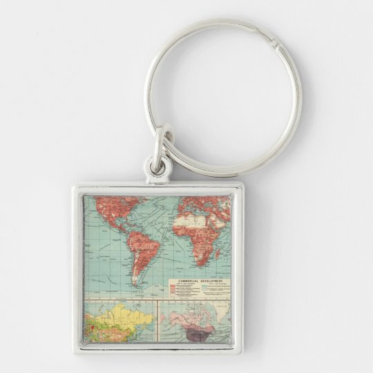 World commerce Map Keychain