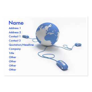 World Connection Large Business Cards (Pack Of 100)