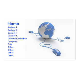 World Connection Double-Sided Standard Business Cards (Pack Of 100)