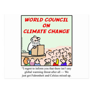 World Council on Climate Change Postcard